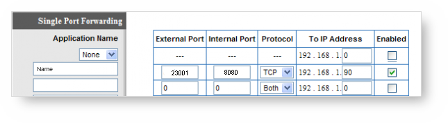 Port Forwarding Sample